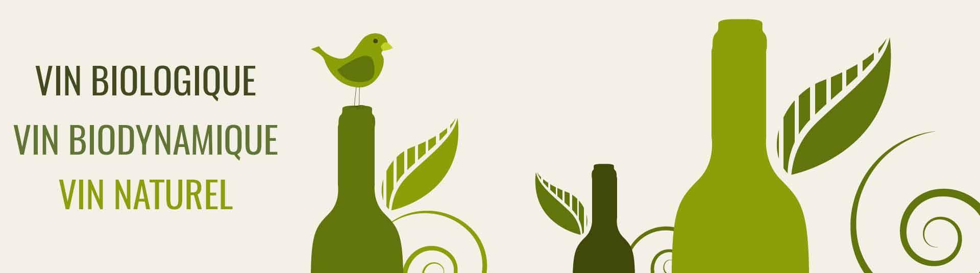 Vin biologique, vin biodynamique, vin naturel par La Bouteille Dorée