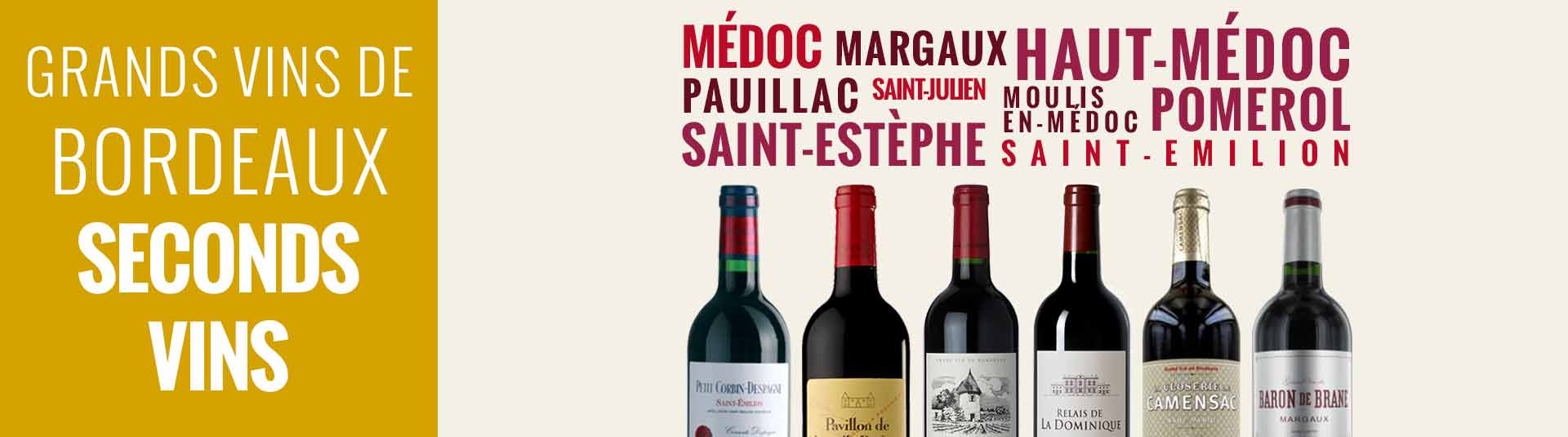Seconds vins des grands vins de Bordeaux
