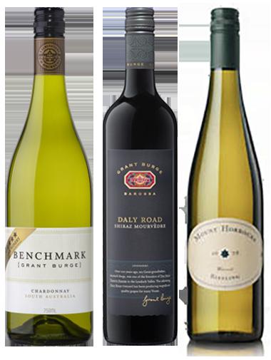 carton découverte vin Australie 3 bouteilles