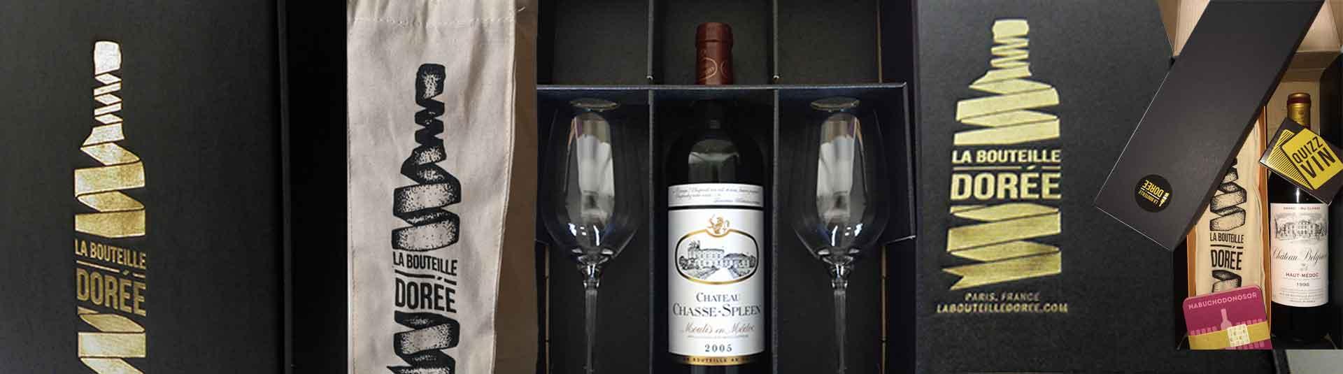 Coffrets cadeaux vins La Bouteille Dorée