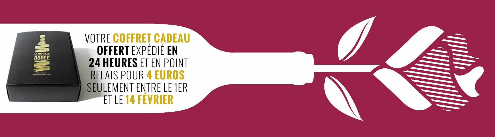 Coffret vin Saint-Valentin, cadeau vin Saint-Valentin