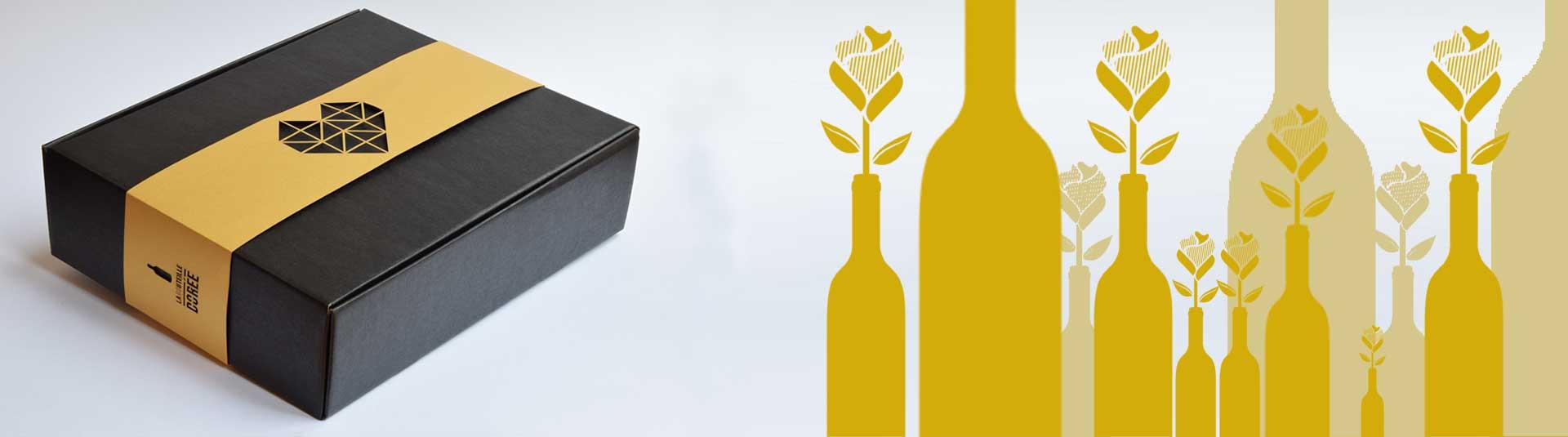 Coffret vin Saint-Valentin, cadeau vin Saint-Valentin - La Bouteille Dorée