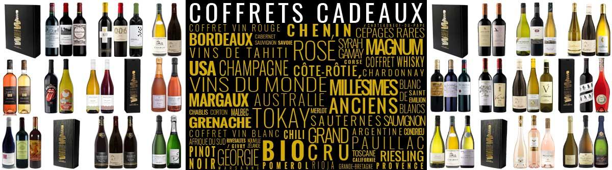 La collection de coffrets cadeaux vins de La Bouteille Dorée