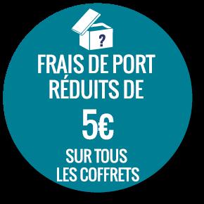 Frais de port réduits de 5 euros